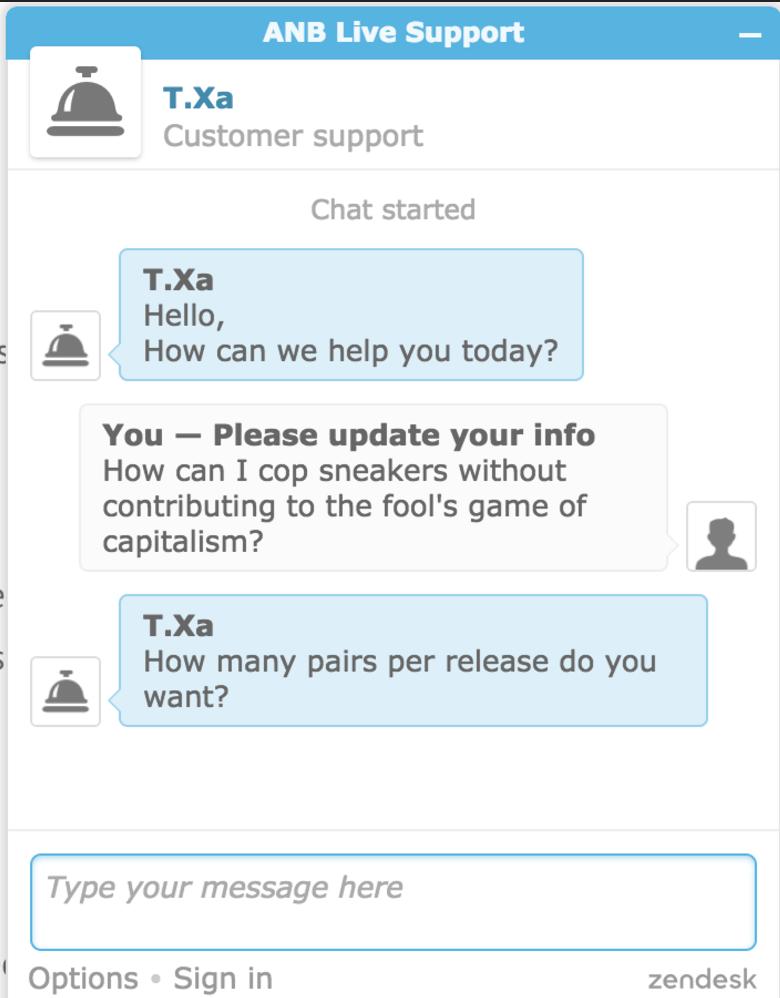 3749686b663ba Interacting with AIO bot s human customer service agent.