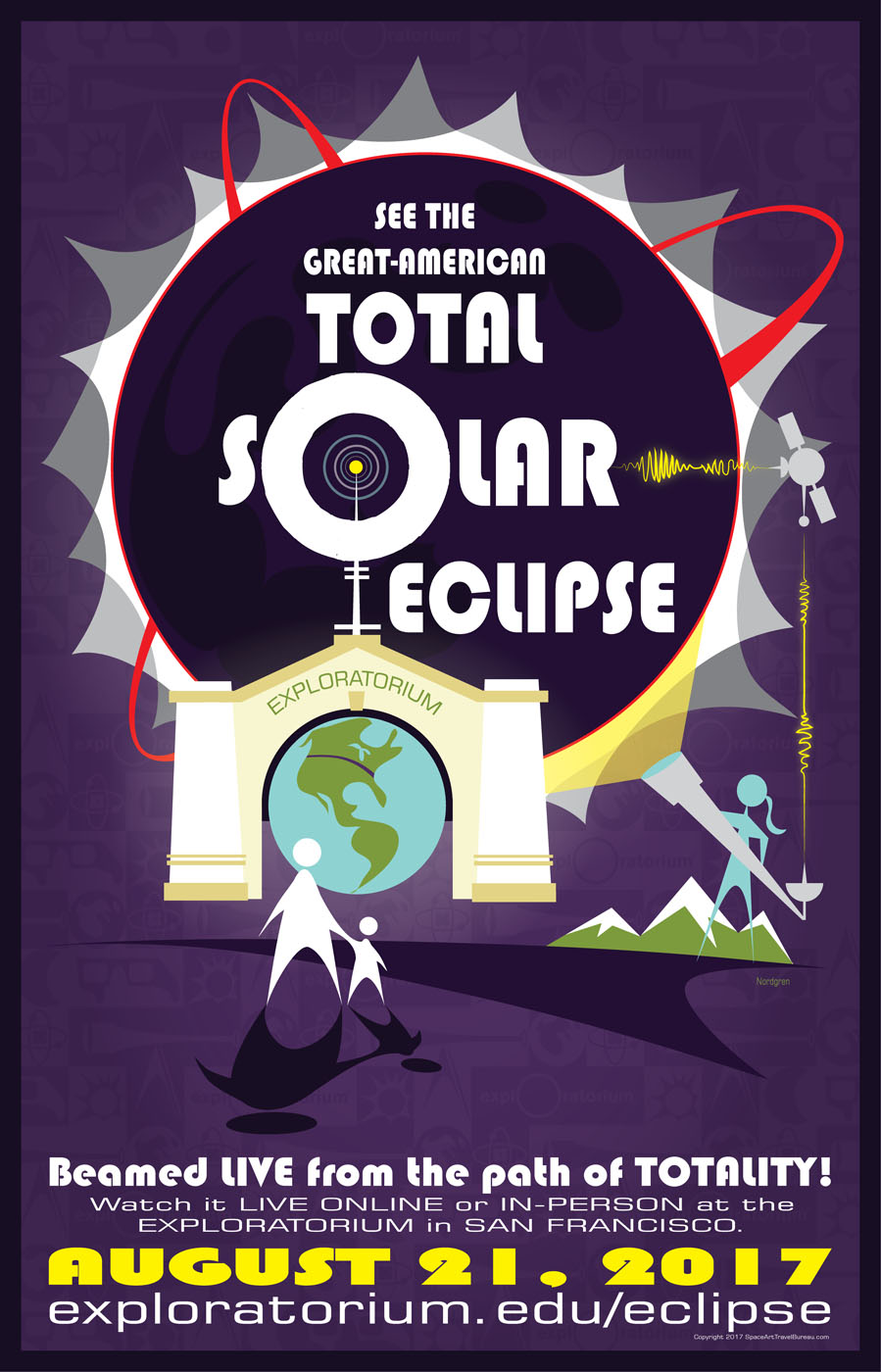 Poster design 99 - You Can Purchase Your Own Great American Eclipse Poster Or Other Space Art Travel Bureau Posters On Nordgren S Website