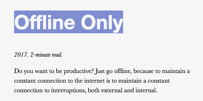 This Website Only Works When You're Offline - VICE