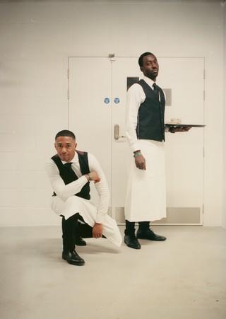 Emmanuel Begarin and Cleef Kemba, Waiters at London Fashion Week