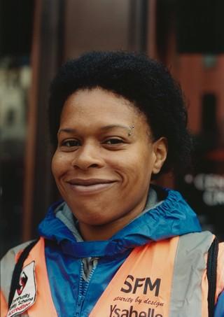 Ysabelle Edwards, 28, Event steward and traffic at London Fashion Week