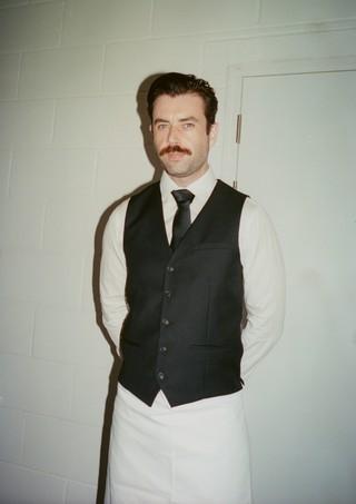 David Kelly, waiter at London Fashion Week