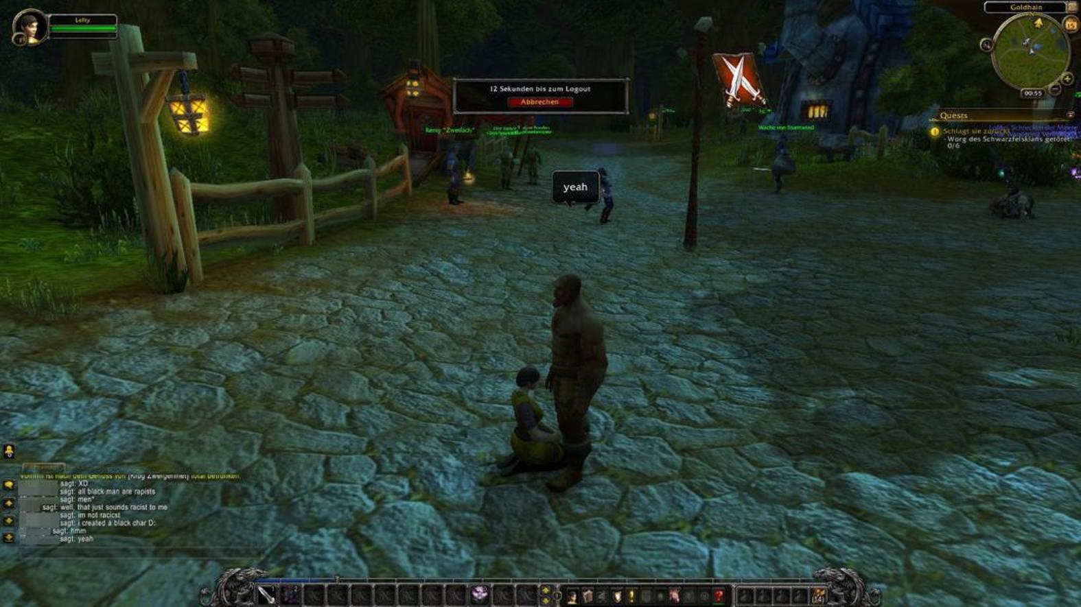 monde de la vidéo de sexe de Warcraft les adolescents qui veulent le sexe