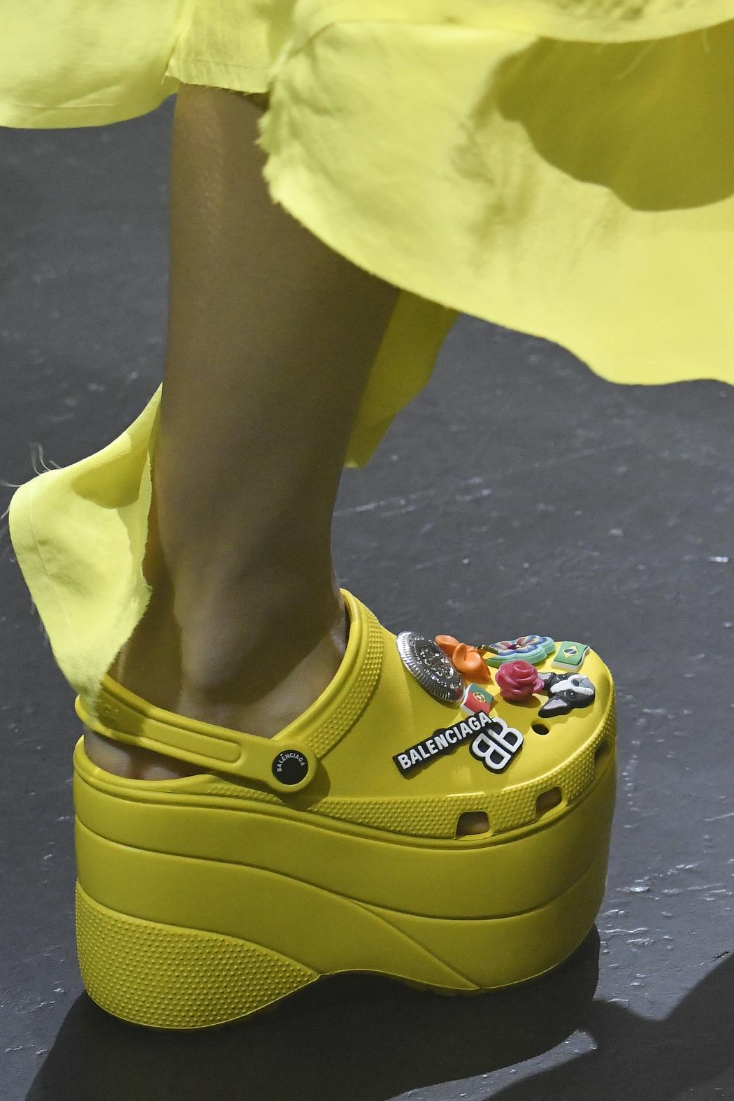 144cb2383d5 Balenciaga Brings Us Closer to Heaven With a Pair of Platform Crocs ...