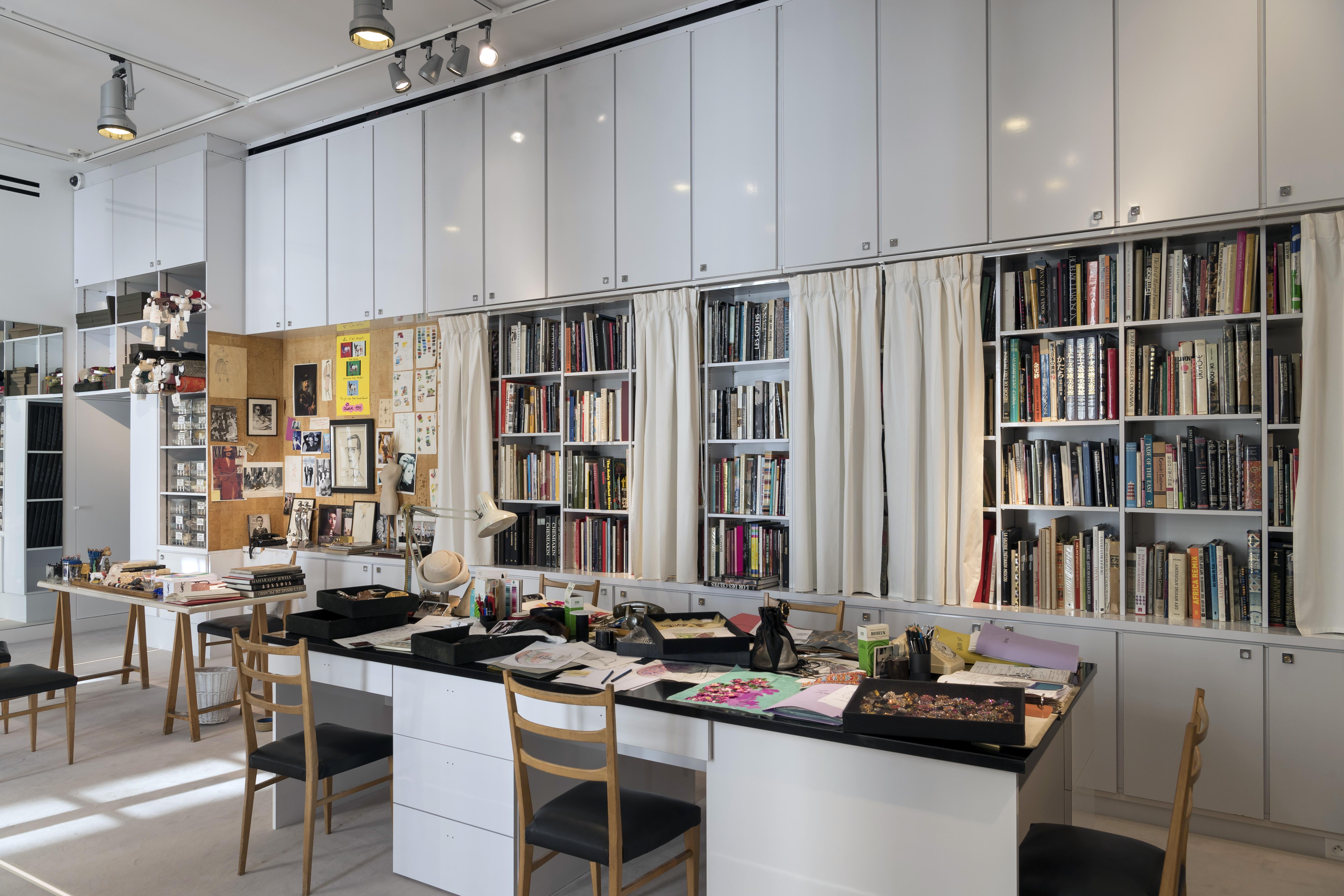 A new saint laurent museum captures the work and soul of a for Bureau yves saint laurent