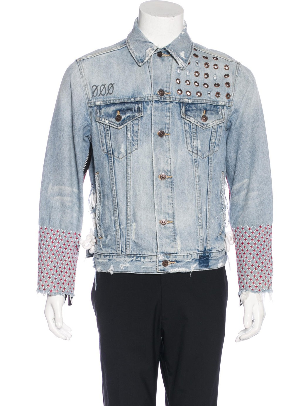 Nina Pilár deconstructed trucker jacket (M) from Jaden Smith, $225.