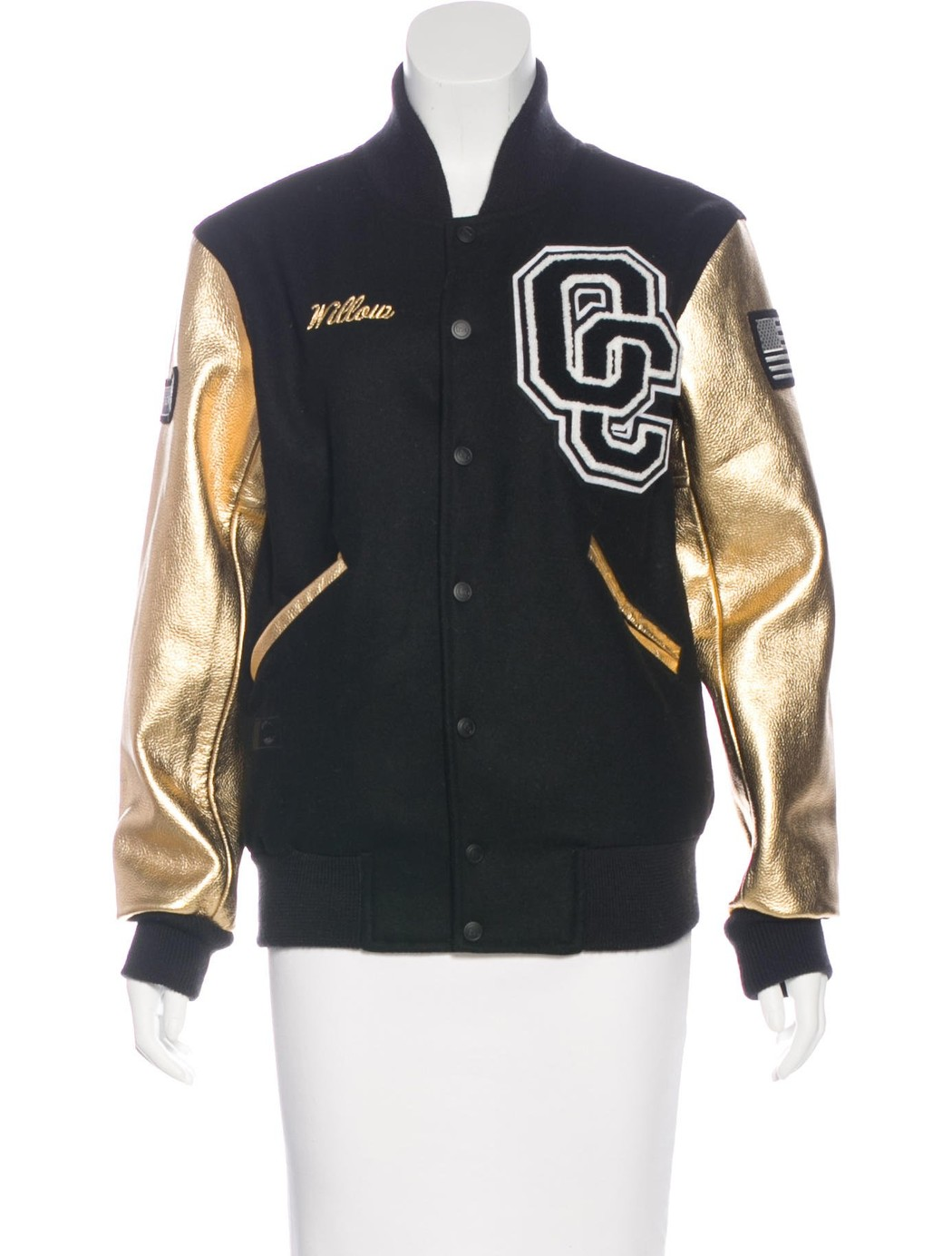 Opening Ceremony wool and leather varsity jacket (XS) from Willow Smith, $345.