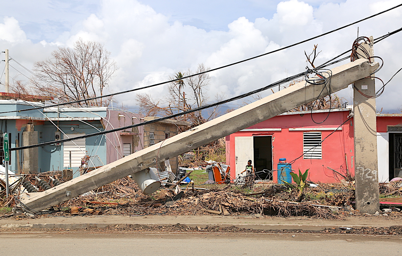 Power Lines And Poles Are Down Across The Island. Image: Benjamin Morales  Melendez