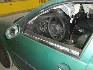 Michael Richters Auto nach dem Anschlag