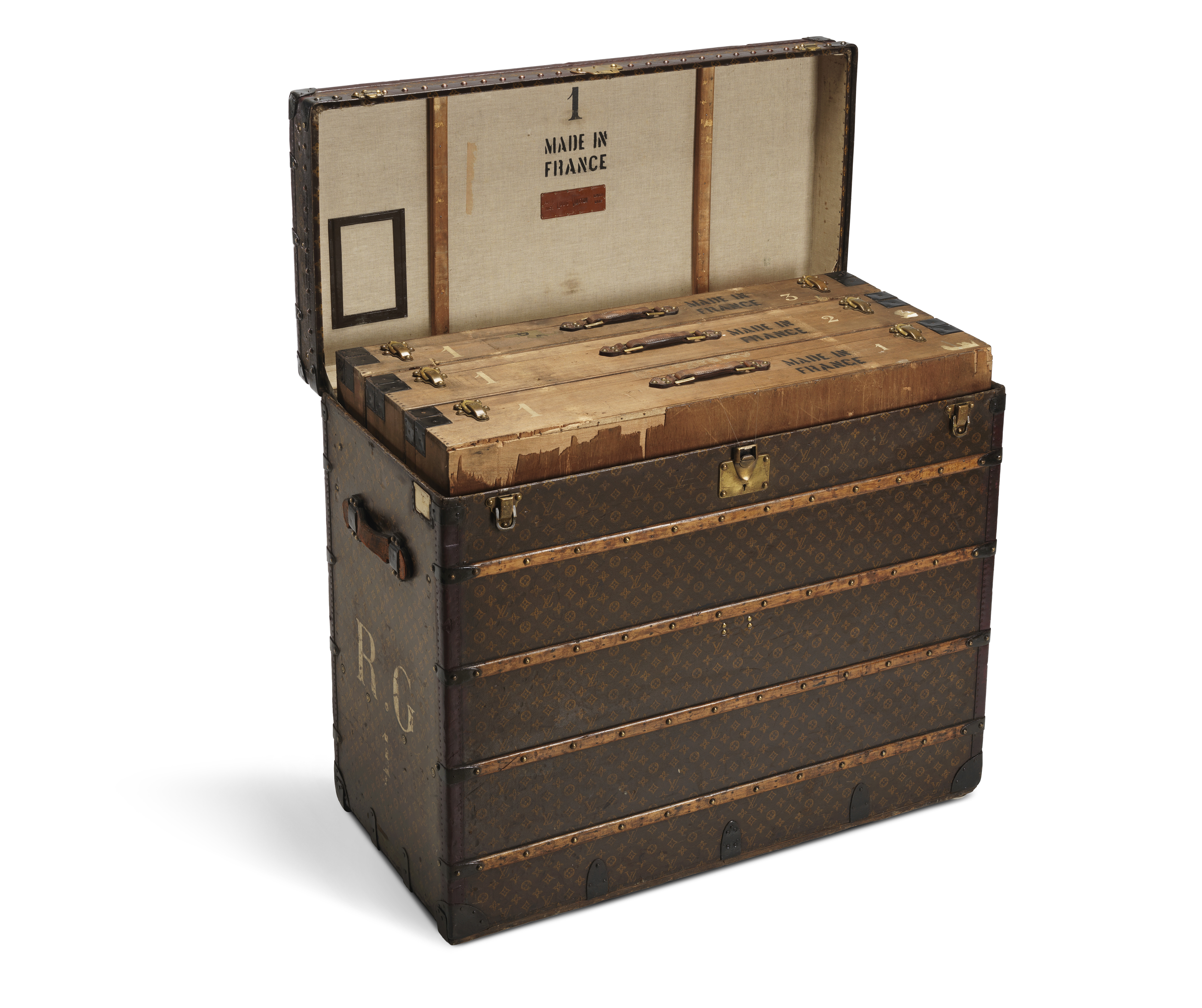 cb40f9a6600 Think of all the Braques and Picassos that have seen the inside of this  trunk! Photograph courtesy of Louis Vuitton.