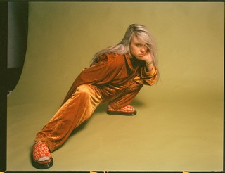Billie Eilish interview: orange velour outfit