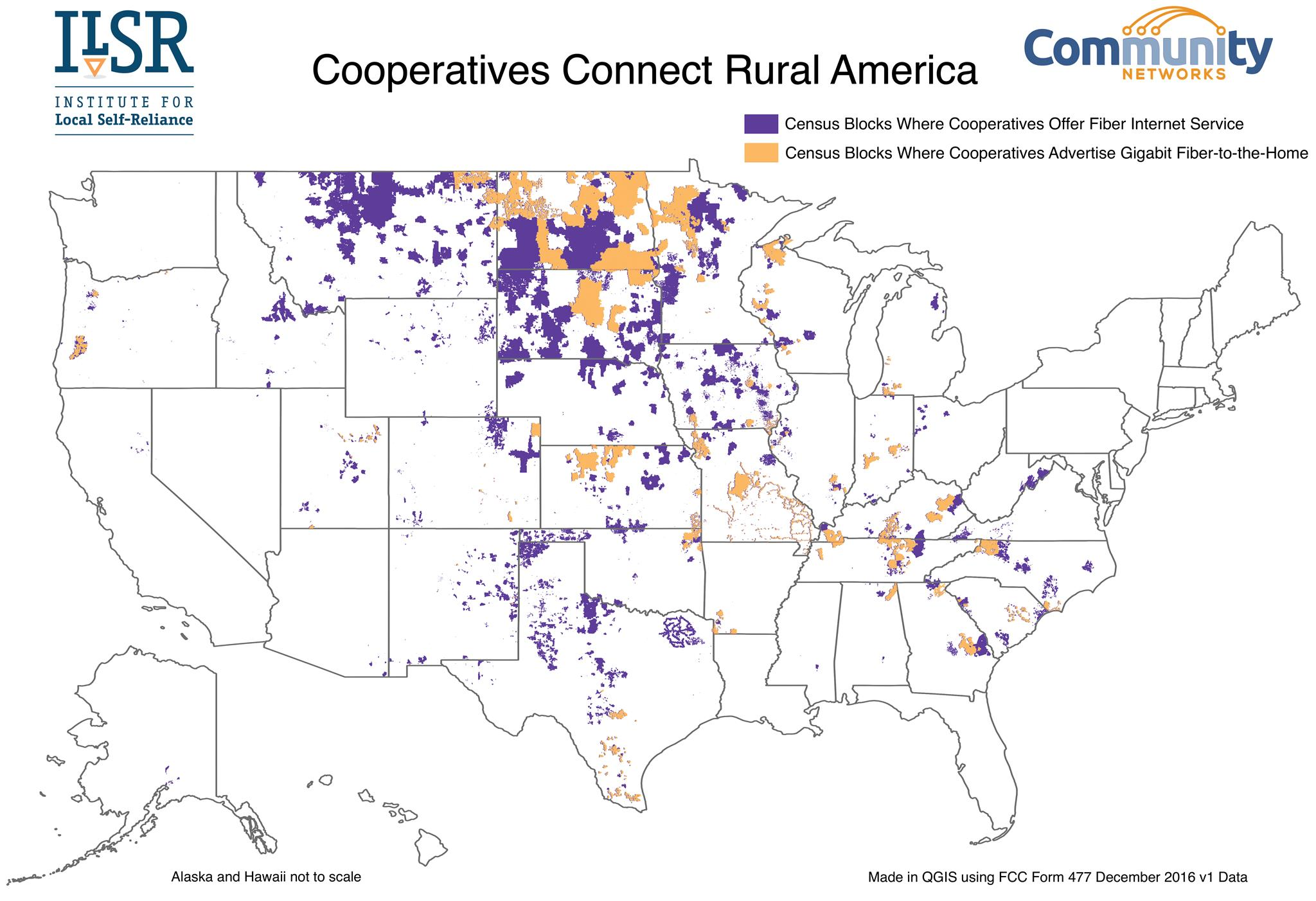 Rural America Is Building HighSpeed Internet The Same Way It - Us internet speed map