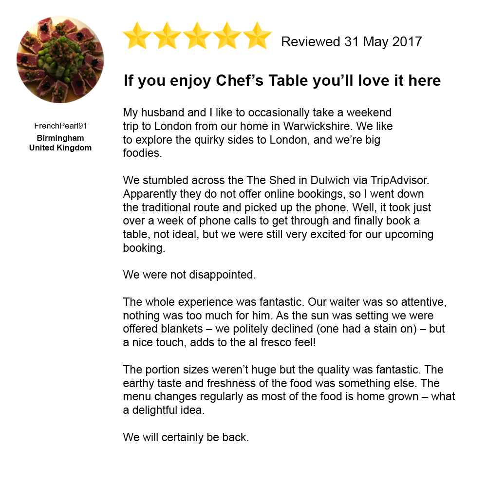 I Made My Shed the Top Rated Restaurant On TripAdvisor - VICE