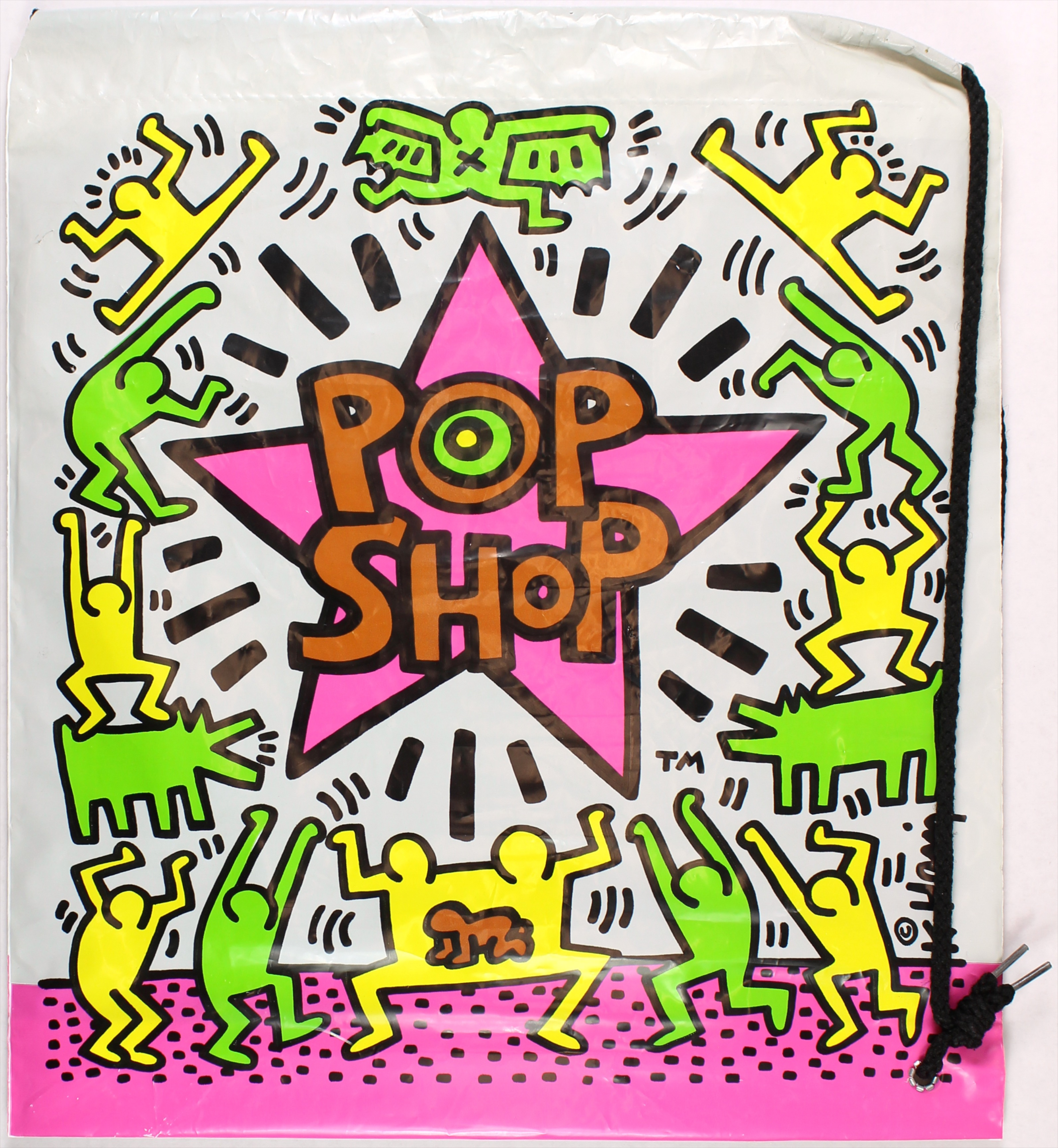 124ab5a48 Pop Shop bag. Courtesy of Harper's Apartment. Keith Haring graphic.