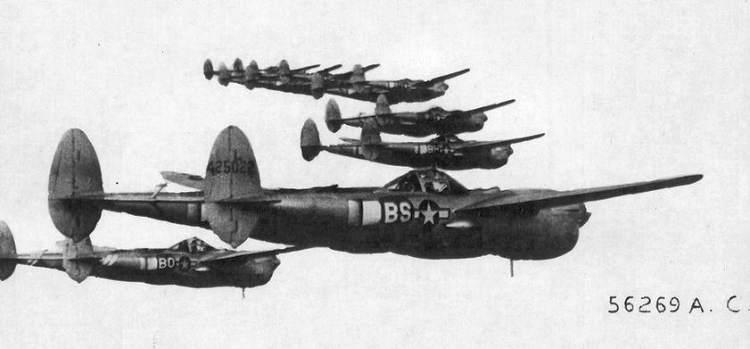 Амерички авиони који су учествовали у бици изнад Ниша. Фото: документација америчког ратног ваздухопловства.