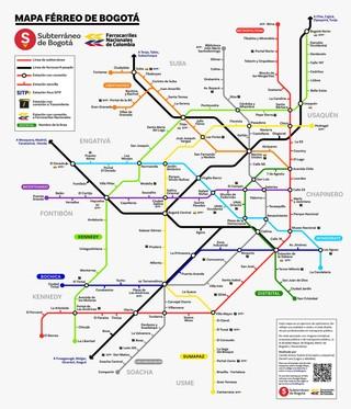 Mapa De Estaciones De Transmilenio Bogota