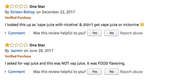 Confused Amazon Buyers Keep Trying to Vape Concentrated Food