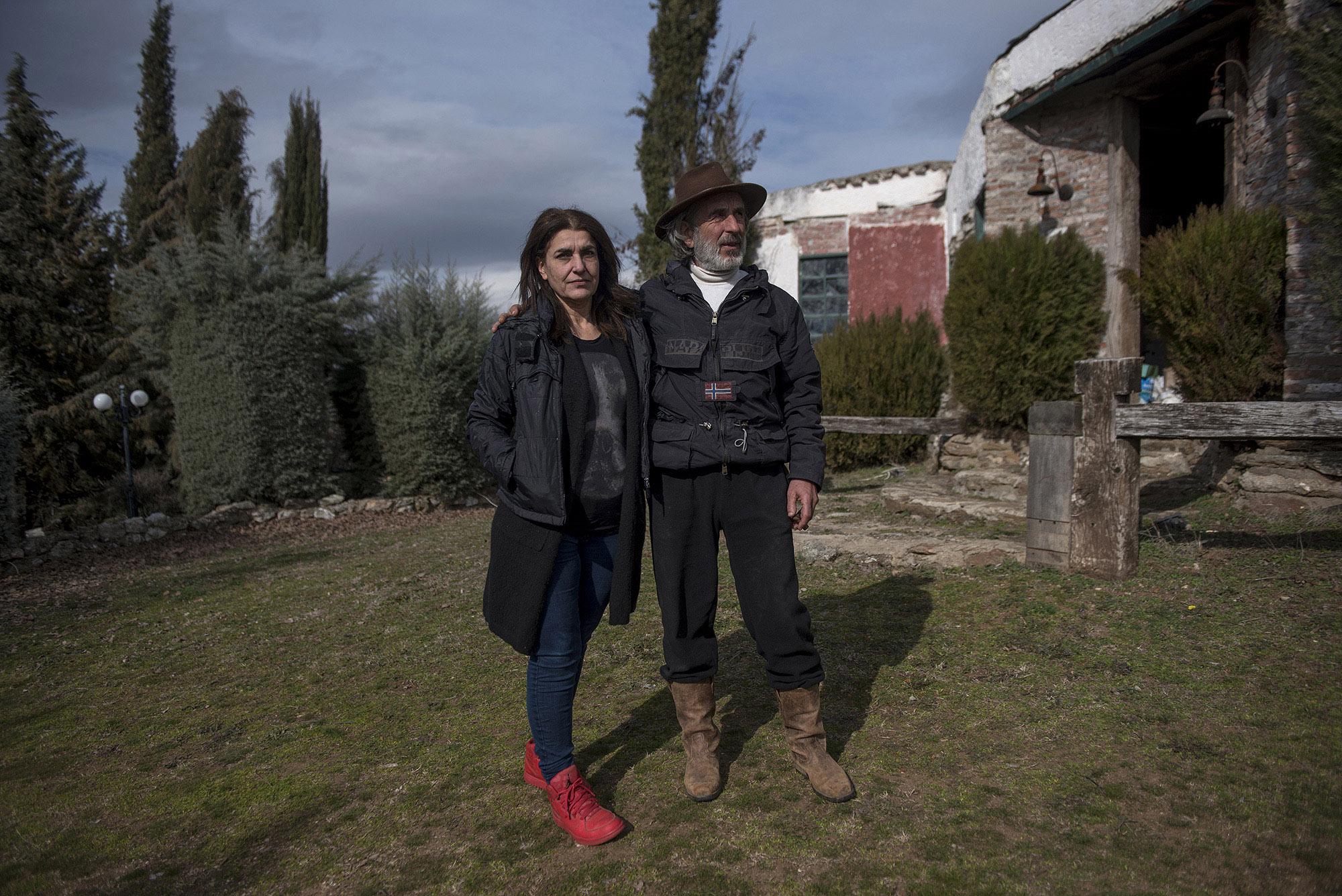 Ο Θωμάς Ντούμας με τη σύζυγό του, Ράνια.