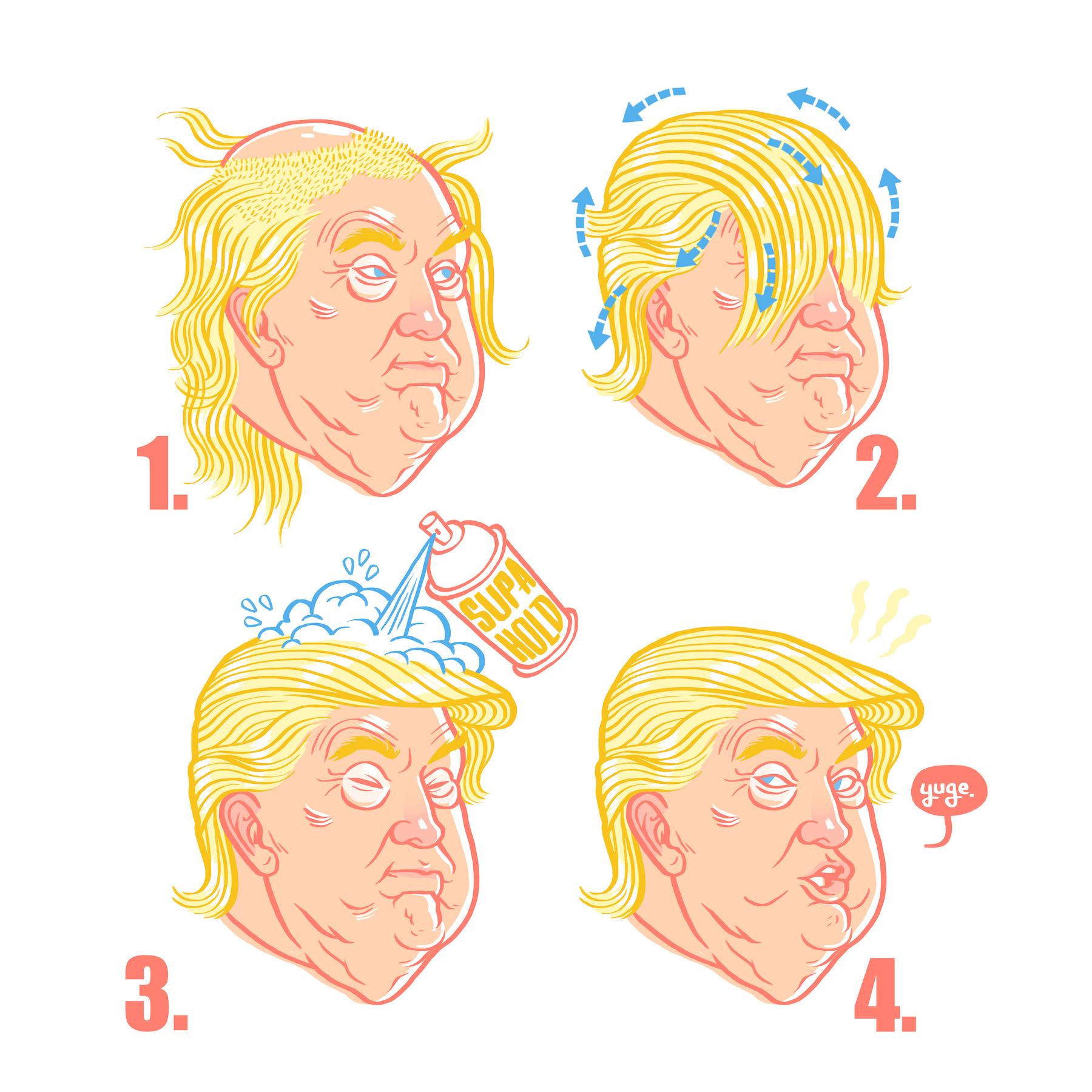 Donald Trump Hairstyle Tutorial