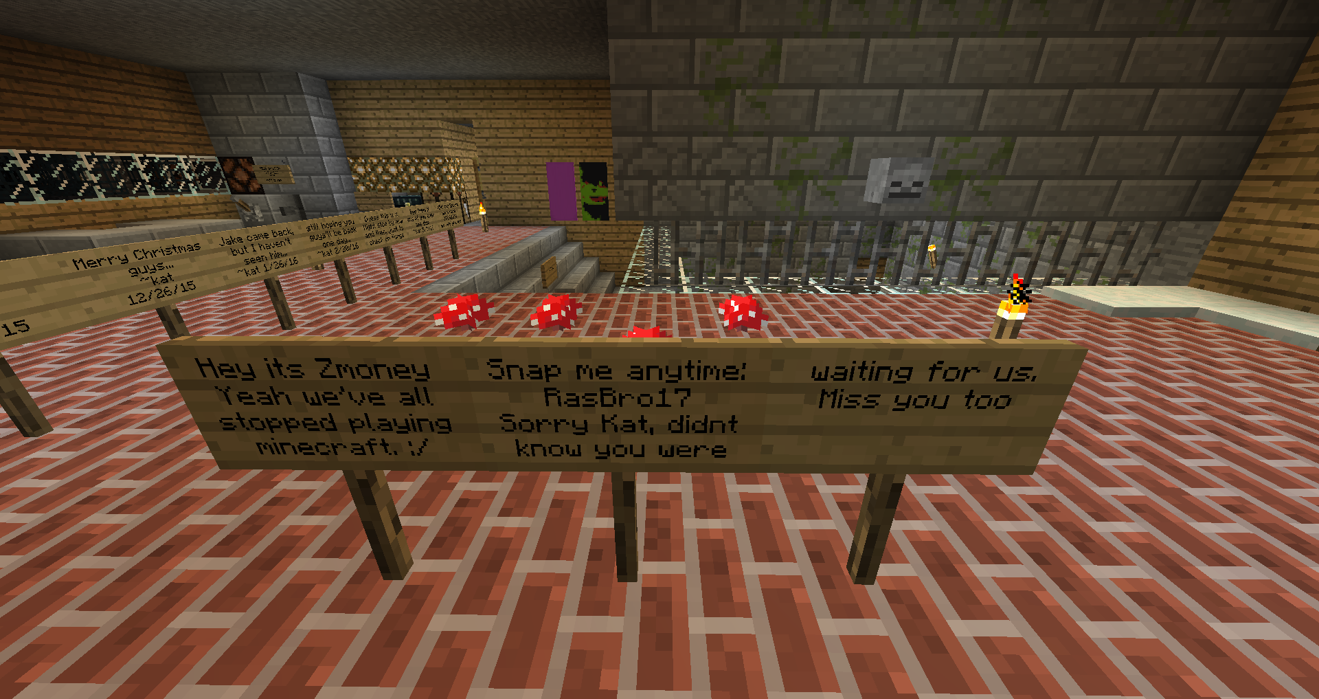 Minecraft Data Mining Signs