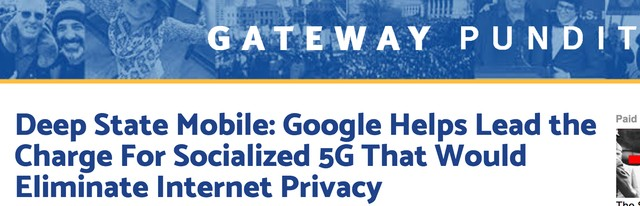 The Alt-Right Thinks 5G Network Plans Are a Deep State