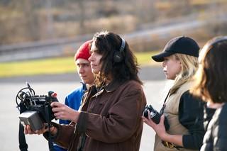 Desiree Akhavan film director on set