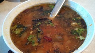 Südindische Rasam-Suppe
