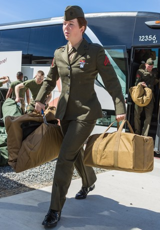 First female Marines join combat training battalion at Camp