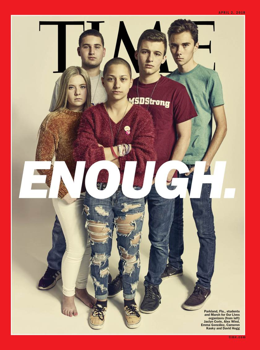 'time' magazine's new cover features the parkland shooting ...