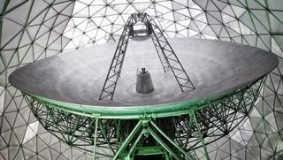 Die Radarschüssel des TIRA-Teleskops vom Fraunhofer-Institut für Radartechnik