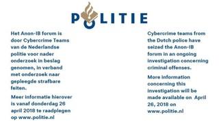 Besucher von Anon-IB wurde für gewisse Zeit auf eine Info-Seite der niederländischen Polizei weitergeleitet