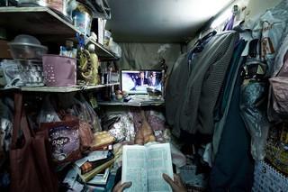 Die Enge in einer der winzigen Wohnungen in Hongkong
