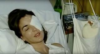 ORF-Moderatorin Silvana Meixner nach dem Attentat von Franz Fuchs