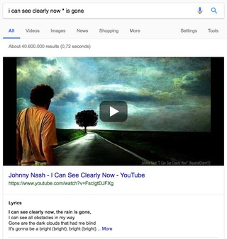 Google-Suche nach einem vergessenen Wort im Songtext von