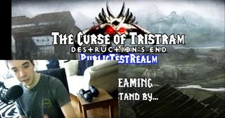 Screenshot von einem Live-Stream von 'The Curse of Tristram'.