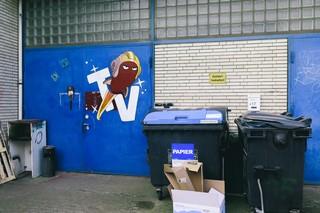 Der Eingang zu den Studios von Rocket Beans TV in der Heinrichstraße 15, Hamburg