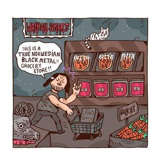 Einkaufen im Black-Metal-Supermarkt
