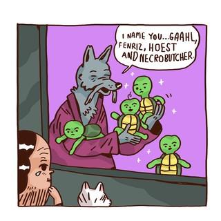 Splinter gibt den Turtles eindeutige Black-Metal-Namen