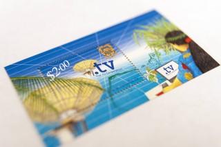 Briefmarke mit Motiv zur .tv-Domain