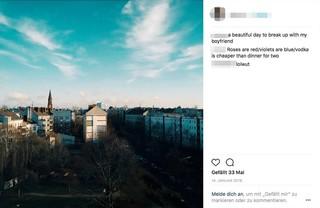 Ein fieser Instagram-Post zu einer Trennung