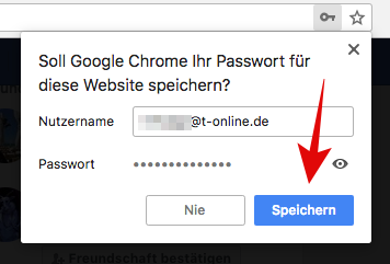 Chrome Passwort speichern: Wenn ihr nach einem Login beherzt auf