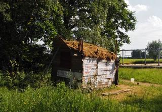 Ole Nieling zelfgebouwde hut