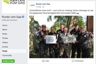 Ein bezahlter Facebook-Post des Verkerhsministeriums wirbt für die Runter vom Gas-Kampagne. Diesen Post hat die Regierung als sogenannter Sponsored Post geschaltet