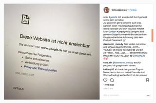 Ein Post des Instagrammers tenseapplewar im Auftrag der #Echtzeit-Kampagne des Gesundheitsministeriums.