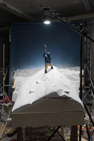 Tenzing Norgay auf dem Gipfel des Mount Everest
