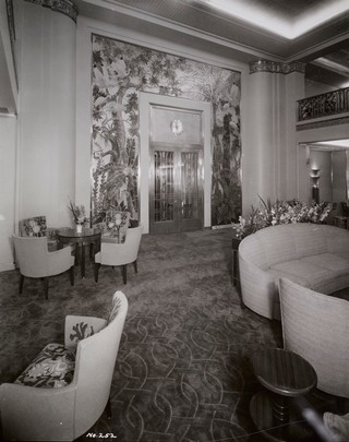 Die Lounge in der ersten Klasse der S.S. America