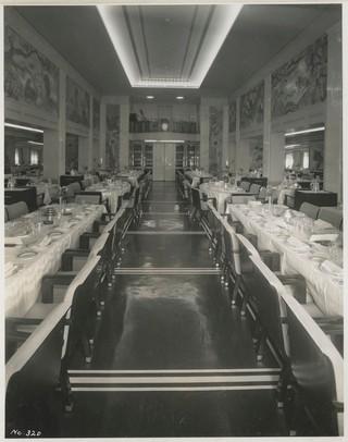 Der Speisesaal der ersten Klasse