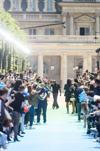 Virgil Abloh's Louis Vuitton show at Palais Royal