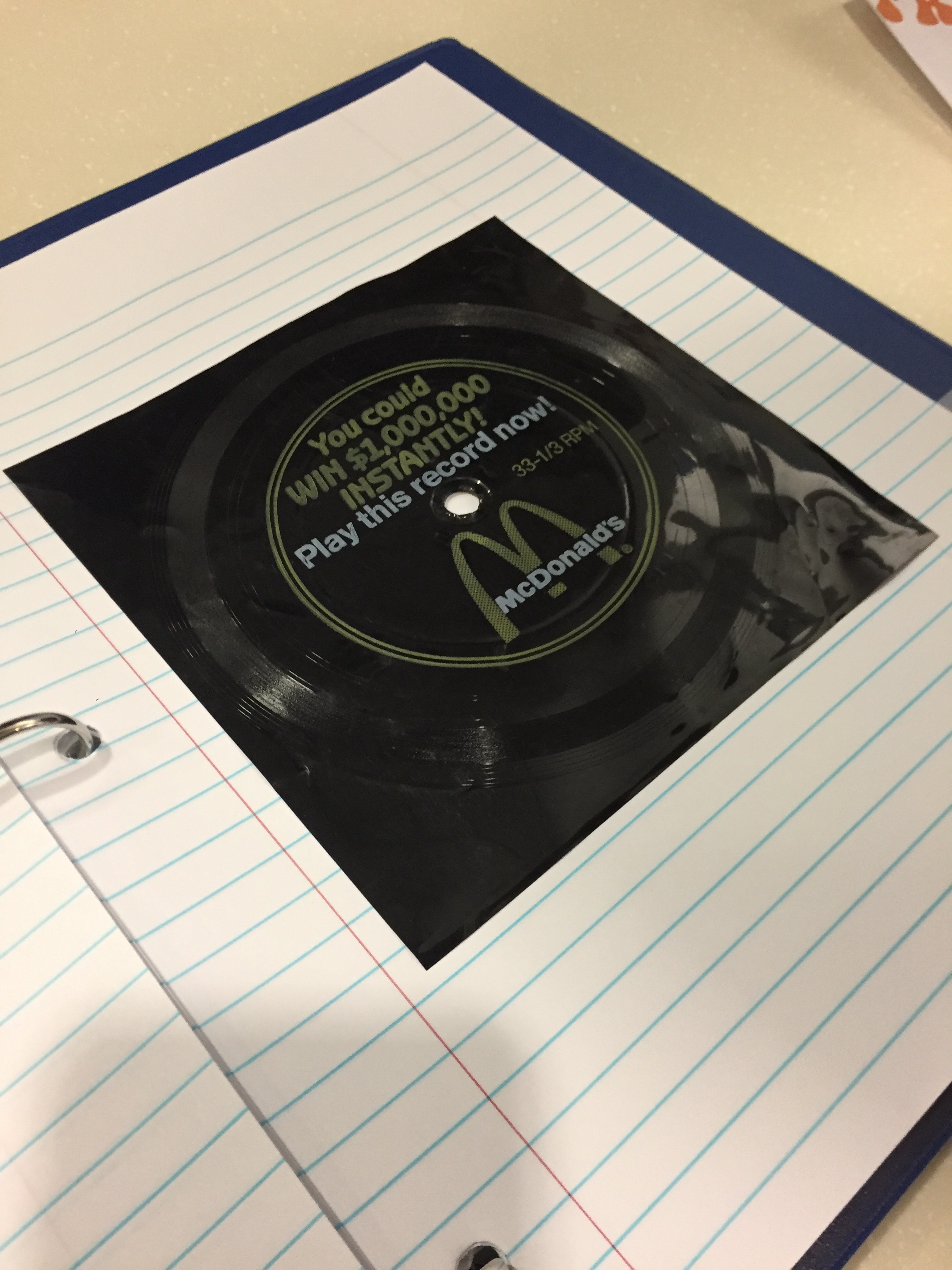 What Happened to the Winner of McDonald's $1 Million Flexi-Disc