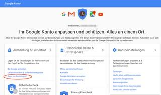 Über die Einstellungen des Google-Kontos lässt sich überprüfen, welche Zugriffe Apps haben.